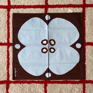 Jonathan Adler Brown & Pale Blue Flower Placemat